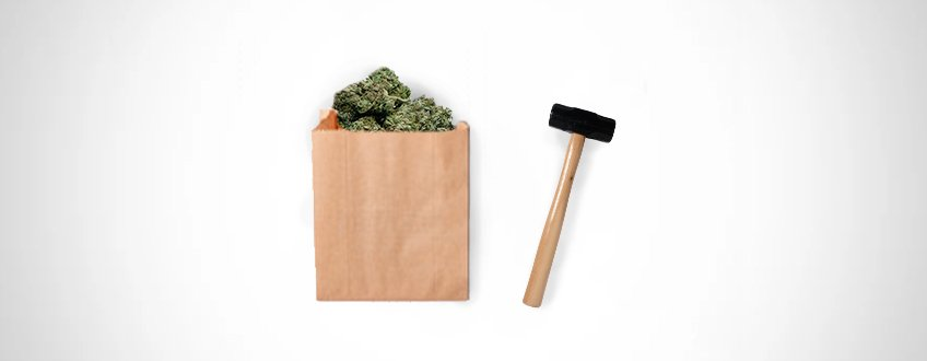 PAPER BAG AND HAMMER